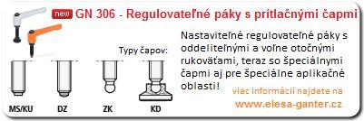 regulovatelne paky